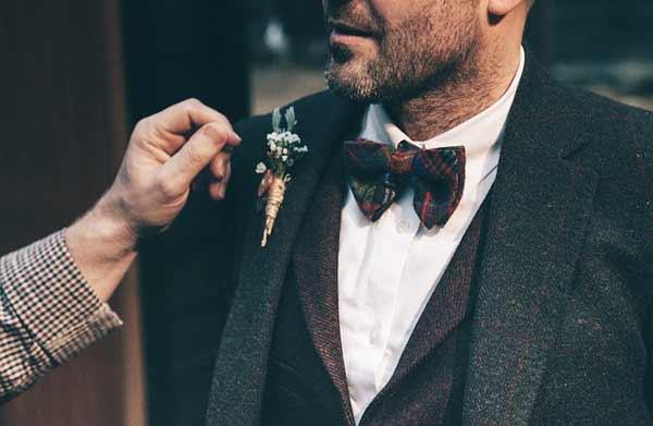 Fliege blauer anzug bordeaux Blauer Anzug